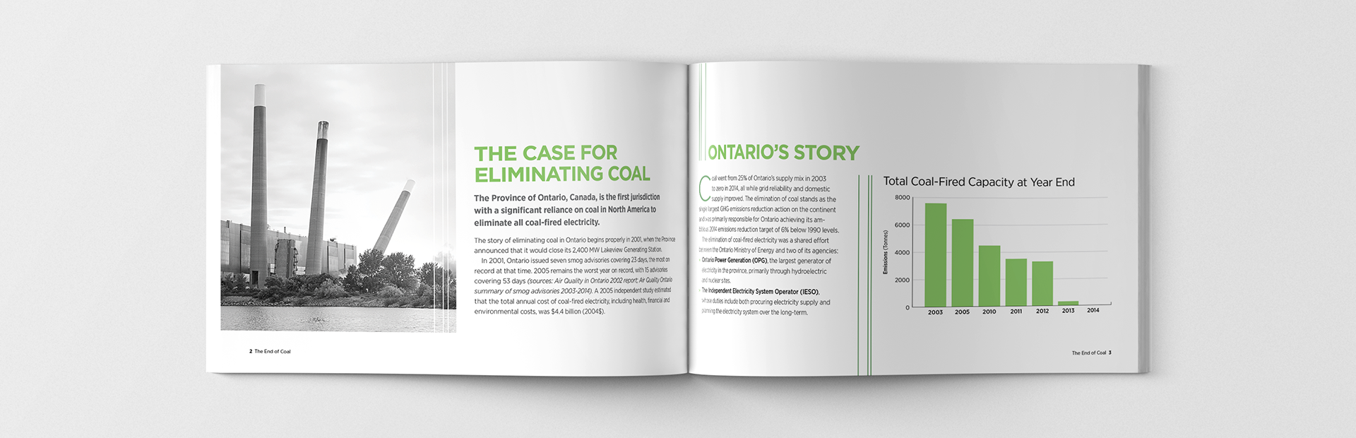 Studio 141 inc portfolio Ontario Ministry of Energy End of Coal publication