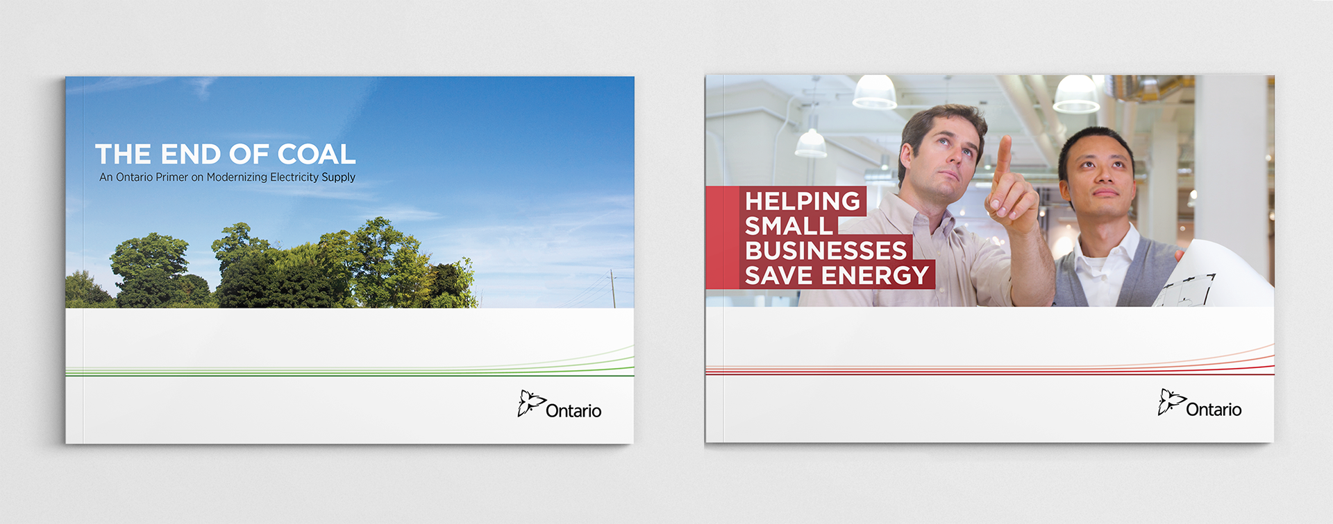 Studio 141 inc portfolio Ontario Ministry of Energy publication covers