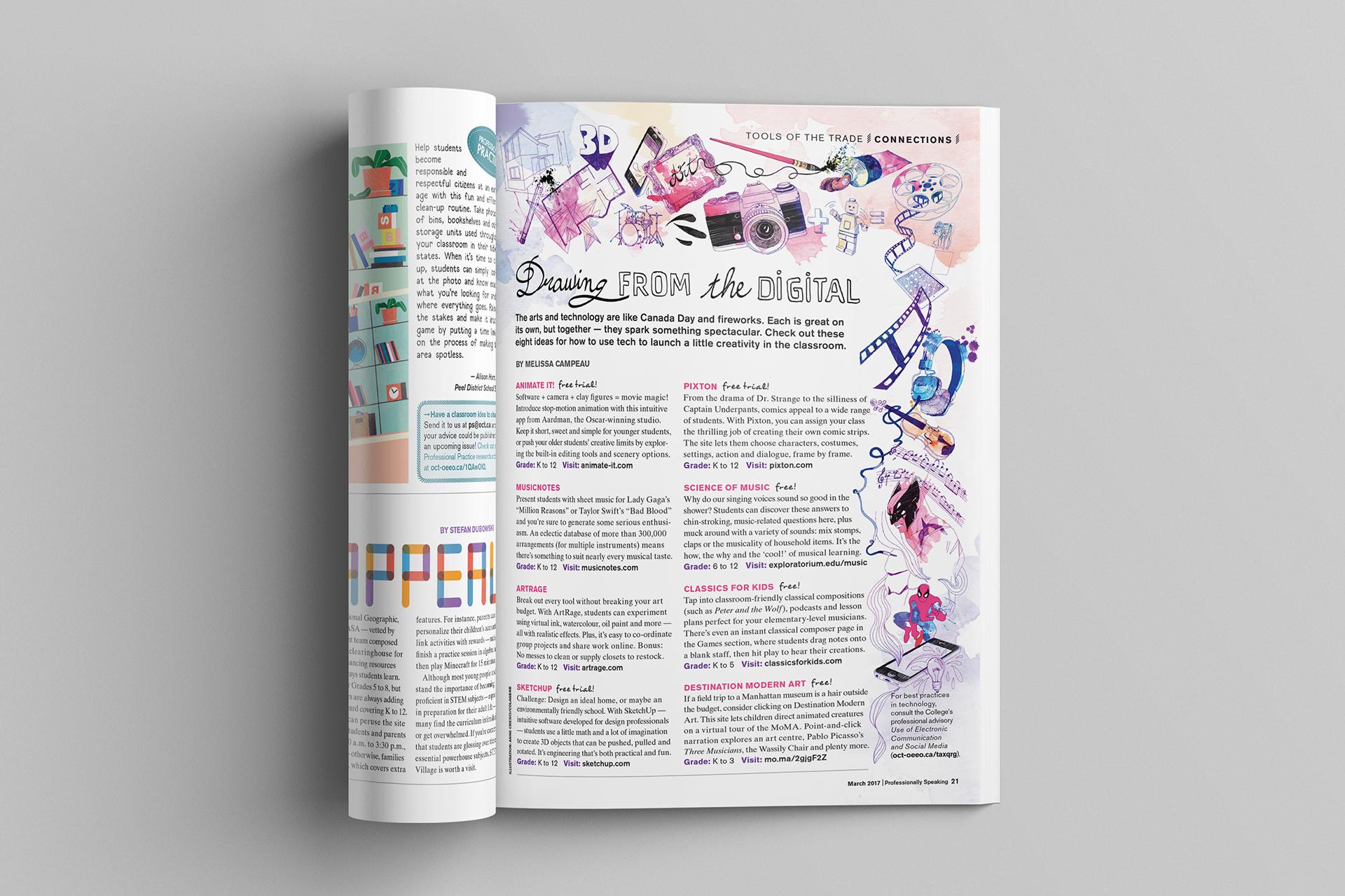 Studio 141 inc portfolio OCT Professionally Speaking magazine