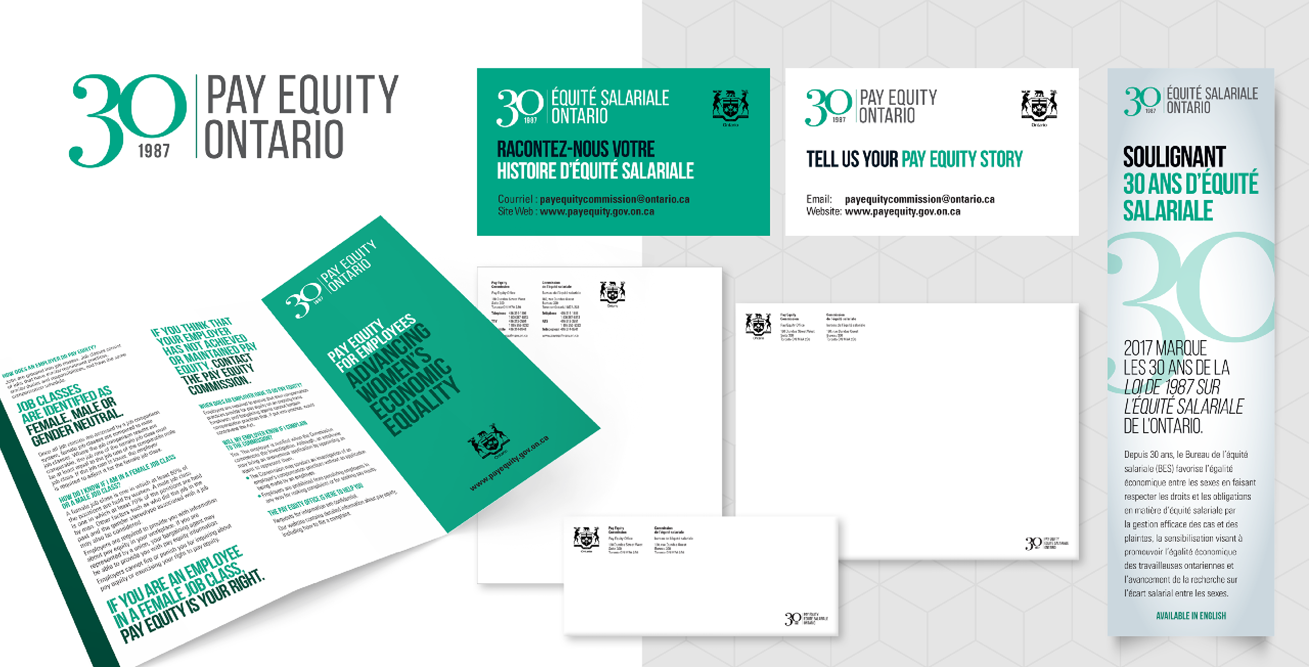 Studio141 inc portfolio Pay Equity Commission design