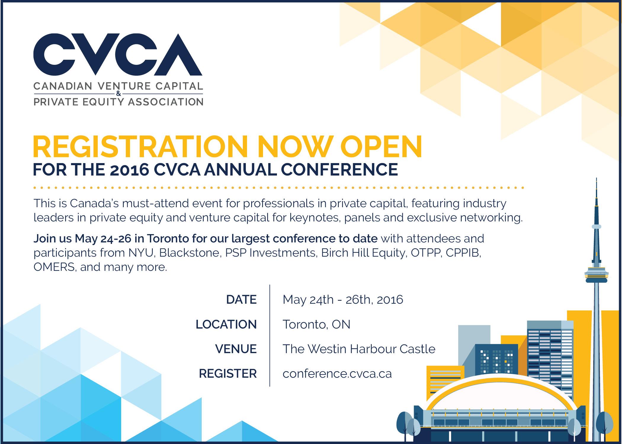 Studio 141 inc portfolio CVCA conference invest canada 2016