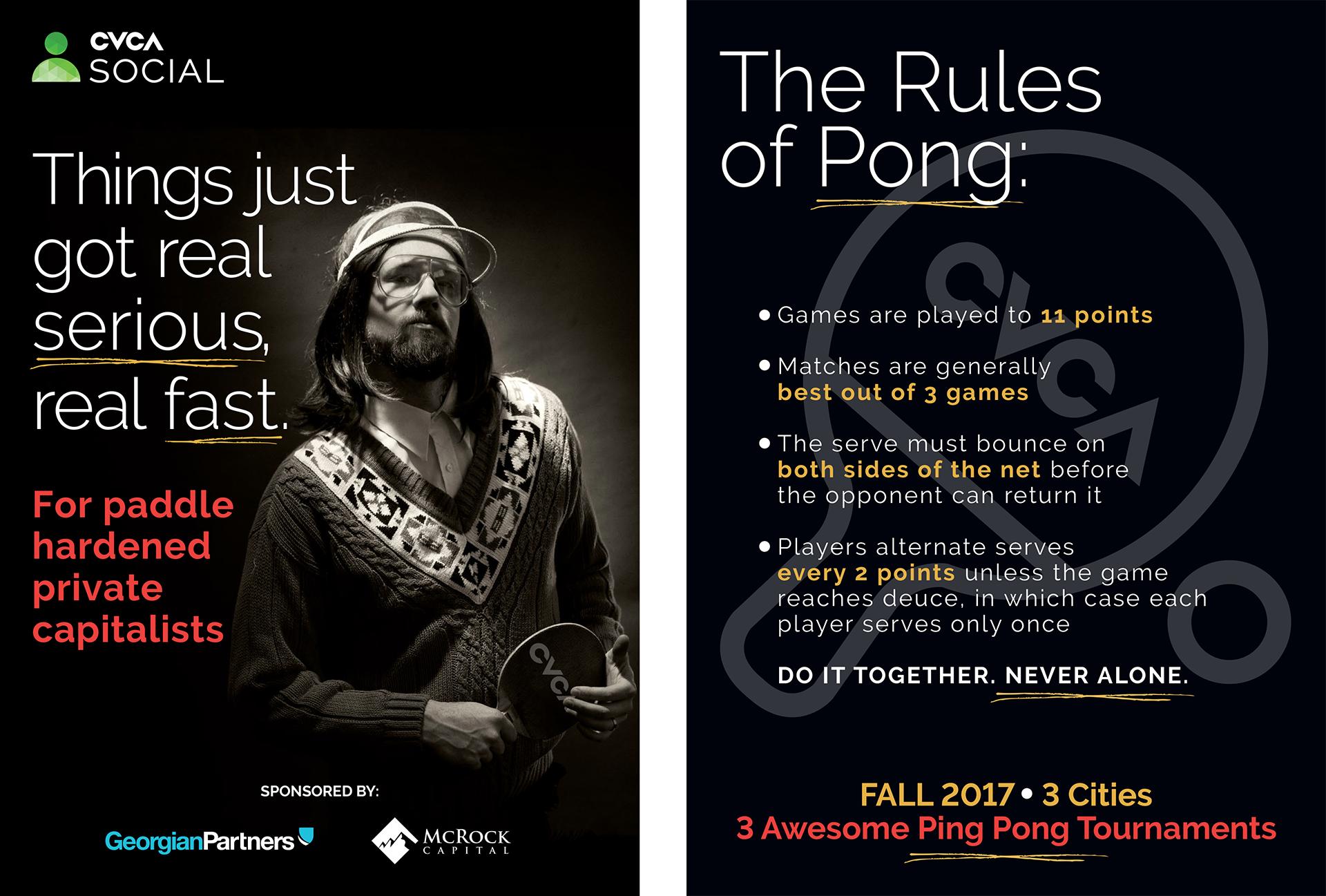 Studio 141 inc portfolio CVCA ping pong promo