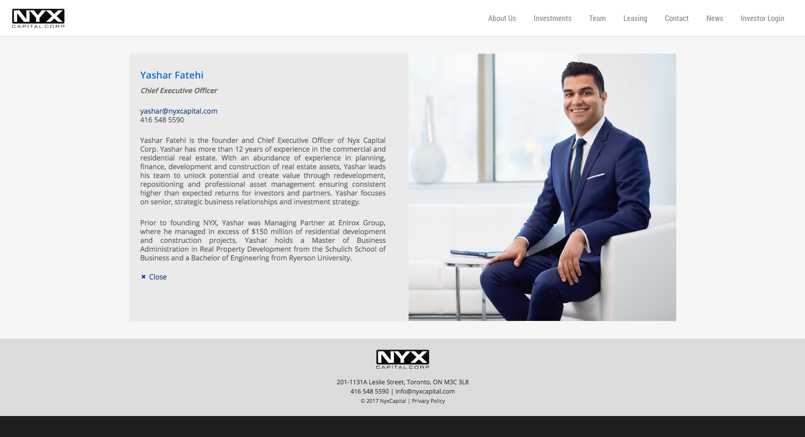 Studio141 inc portfolio NYX Capital website