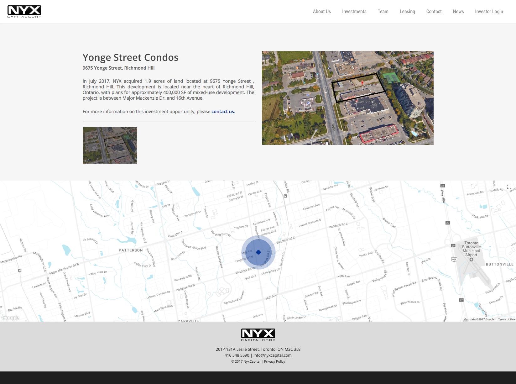 Studio141 inc portfolio NYX Capital website