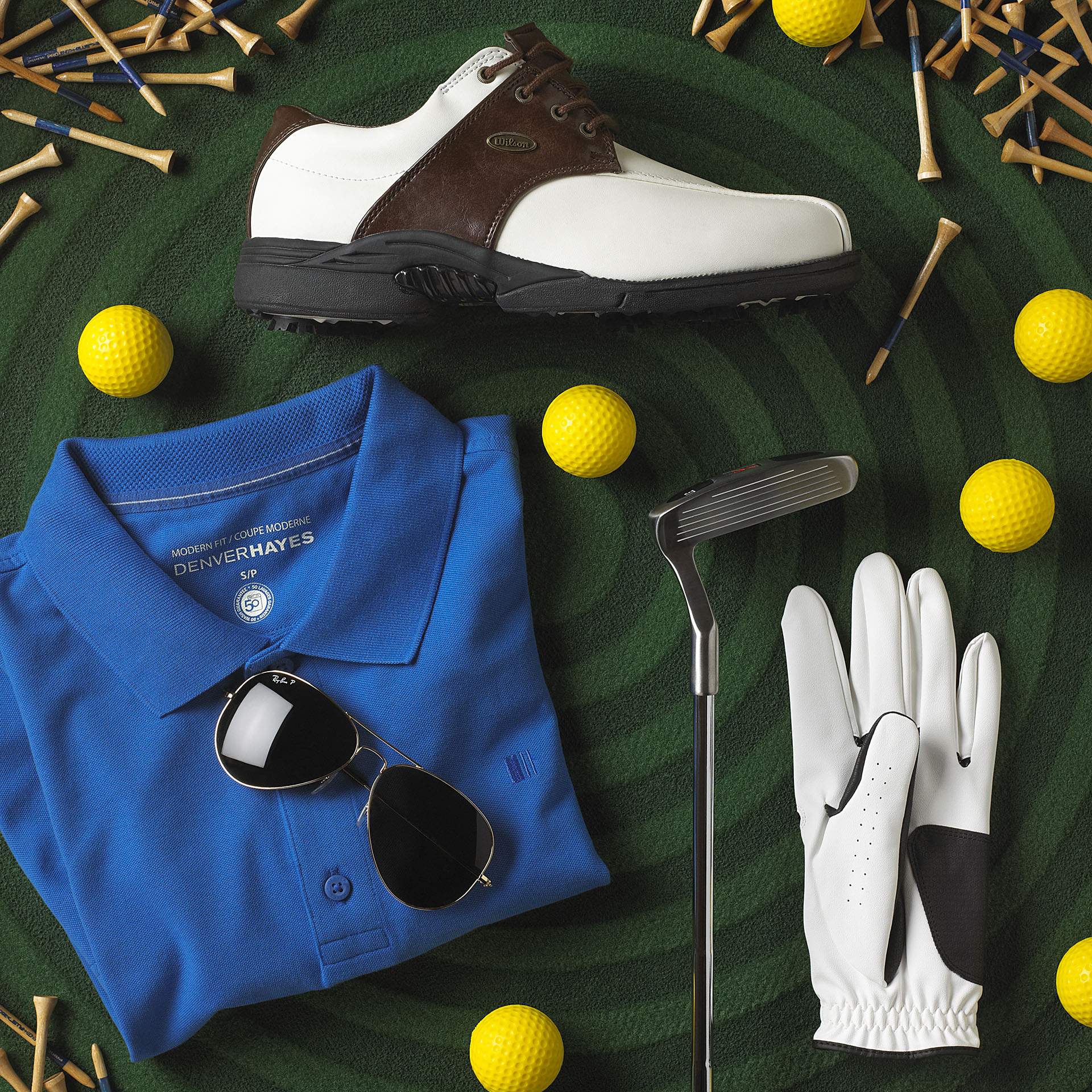 Studio141 inc portfolio styling creative sports flatlay