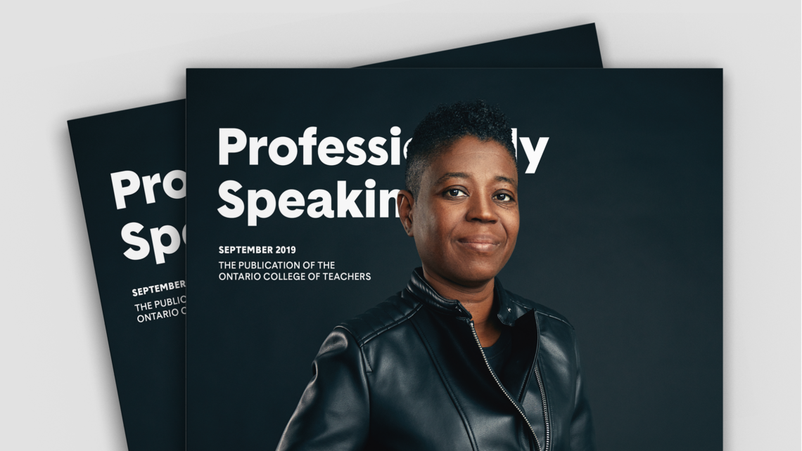 OCT Professionally Speaking magazine rebranded portrait covers
