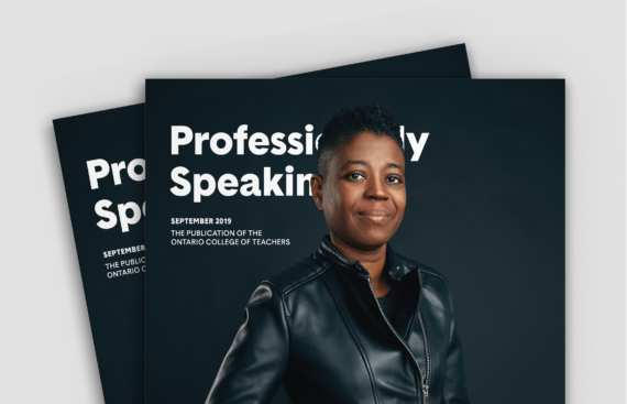OCT Professionally Speaking magazine rebranded portrait covers