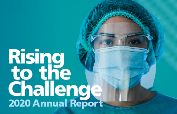 studio 141 CNO annual report 2020 cover image rising to the challenge