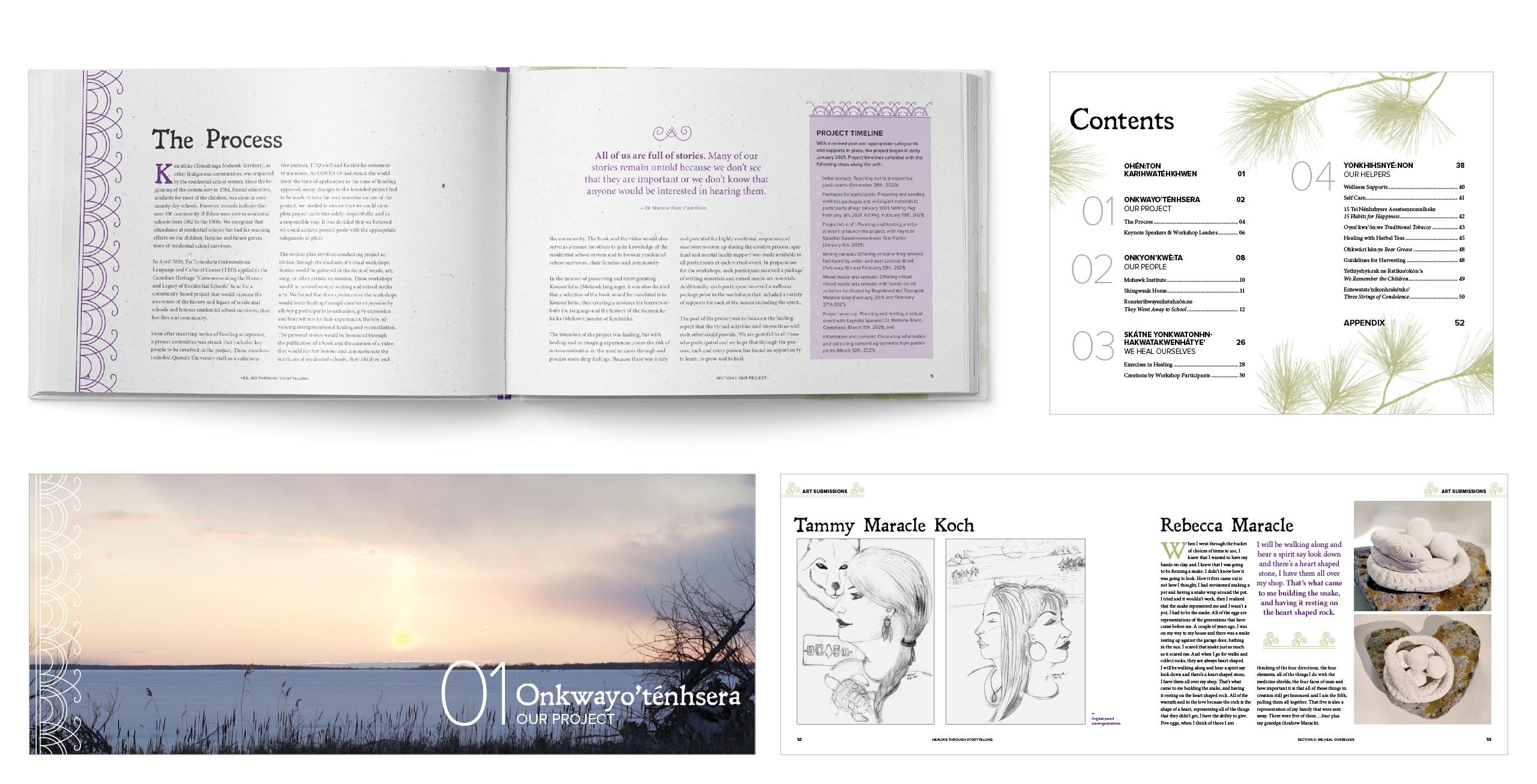 tsi tyonnheht onkwawen na healing through storytelling hardcover book design residential schools